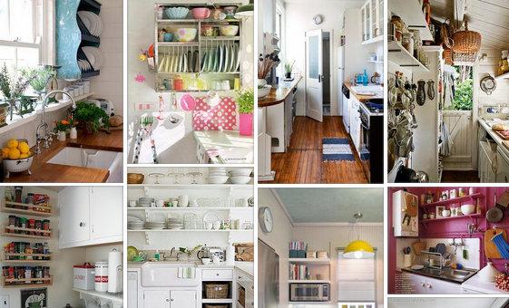 50+ Ιδέες - Διαμορφώσεις για Μικρές Κουζίνες