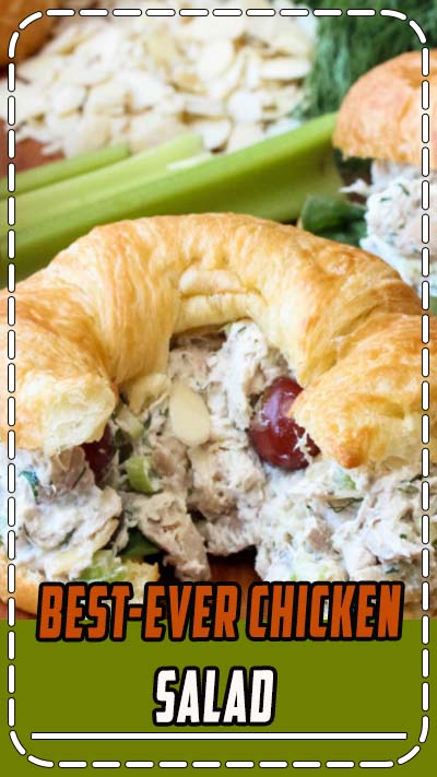 Best-Ever Chicken Salad - This Best-Ever Chicken Salad is really wonderful. Perfect for incredible chicken salad sandwiches (croissants are great!), or ton top of a lovely bed of green. Either way, you're just going to love this Best-Ever Chicken Salad! Using our Homemade Mayo recipe makes it even better!