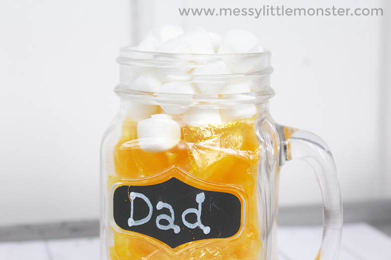 Handmade Fathers Day Gift - DIY Candy Beer Mug. An easy Father's Day craft for kids to make Dad.
