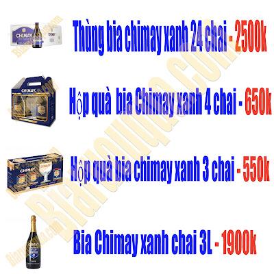 Bảng giá danh sách sản phẩm Chimay xanh