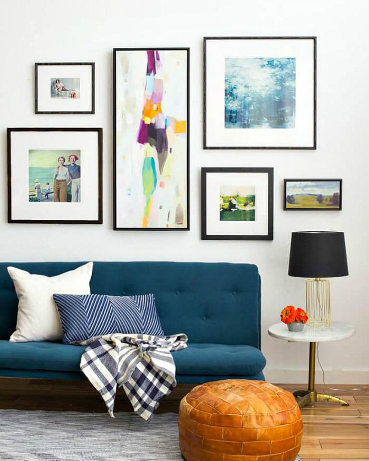 Composici n de cuadros en la pared la bici azul blog de - Composicion de cuadros ...