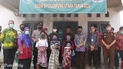 Romli,A.Md Ketua DPRD Lampura Hadiri Acara Karya Bakti TNI KODIM 0412/L.U Tahun 2020