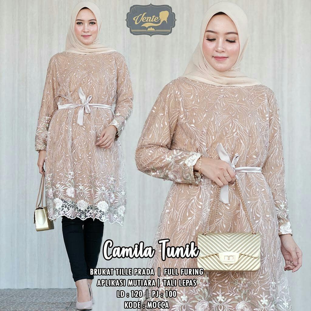 11+ Model Baju Muslim Wanita Gemuk Pendek 11