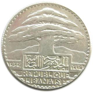 50 غرش لبناني 1929 وأشكالية قرن الوفره عليها  G120