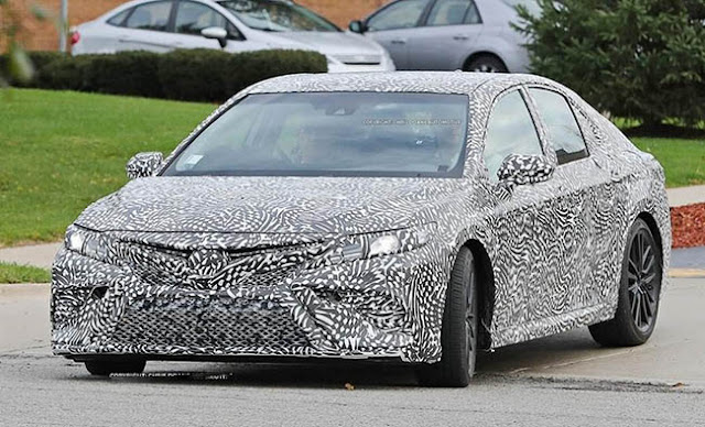 2019 Toyota Camry Spy Photos and Review