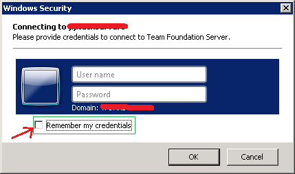 Revert TFS credentials in Visual Studio
