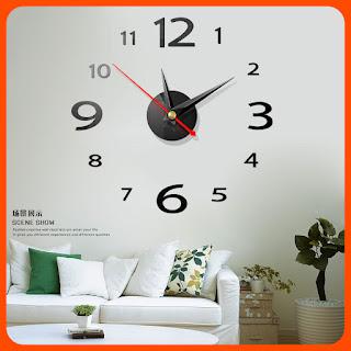 DIY 3D Decorative Acrylic Wall Clocks Sticker Living Room Bedroom 3D Wall Clocks Home Decor