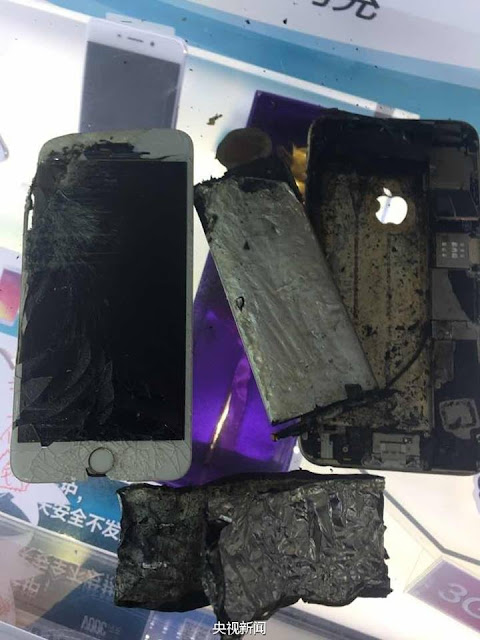 Chinese users report iPhone fires.