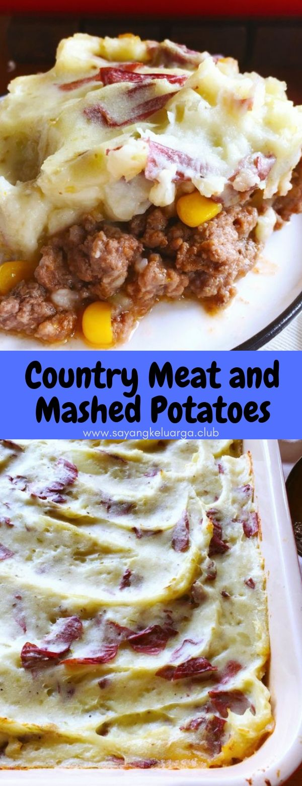 Country Meat and Mashed Potatoes #maincourse #dinneer #meat #mashed #potato