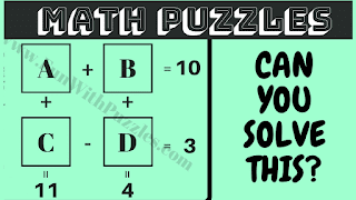 Can you solve these maths puzzle questions?