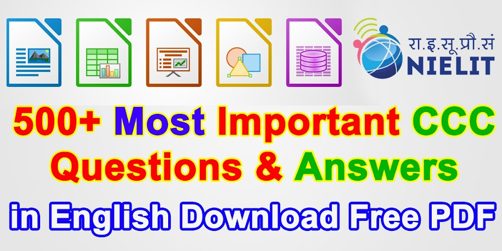 500+ Most Important CCC Question & Answer in English Download Free PDF