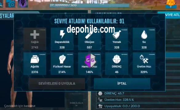 Ark Survival Evolved Mobile Level Hilesi Nasıl Yapılır? Yeni 2021