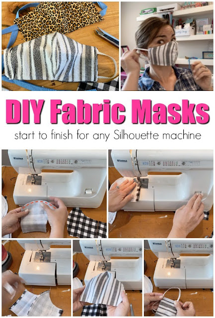 fabric masks, sewing, coronavirus, silhouette software, masks