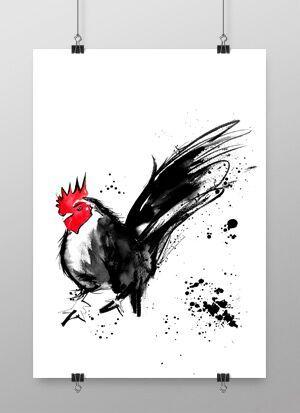 konsttryck, tupp, tuppar, konst, annelies design, annelie palmqvist, påsk, påsken, kökstavla, kökstavlor, tavla till köket, tavlor, poster, posters, print, prints, plakat, plakater, svart och vitt, rött, röd, röda detaljer, webbutik, webbutiker, webshop, inredning,