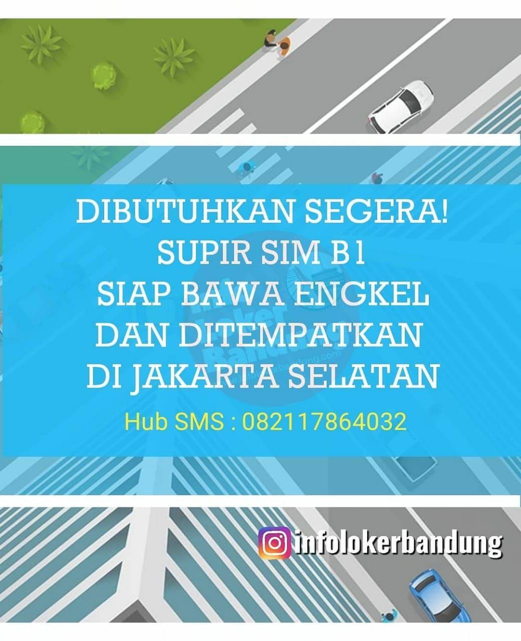 Dibutuhkan Segera Supir SIM B1 utk Penempatan Jakarta Selatan