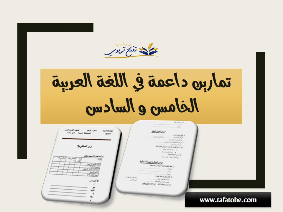 أنشطة داعمة في اللغة العربية المستوى الخامس و السادس