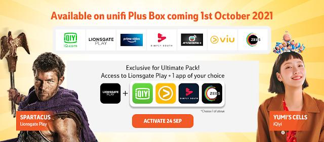 Unifi TV Memperkenalkan 7 aplikasi penstriman Baru Bermula 1 Oktober Ini