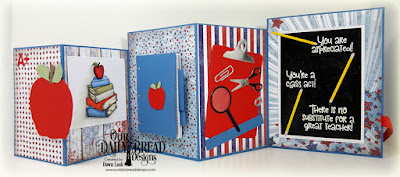 Our Daily Bread Designs Stamp Set: Class Act, Stamp/Die Duos:  Notebook Paper, Custom Dies: Clipboard Set, A+ Apples, Double Stitched Rectangles, Rectangles, Squares Paper Collections: Patriotic, Chalkboard