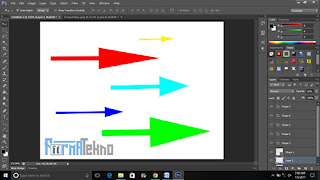 Cara Membuat Tanda / Simbol Anak Panah Dengan Photoshop