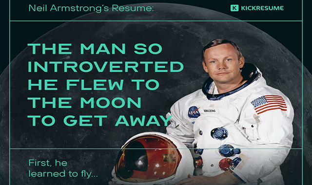 Neil Armstrong's Resume: The Man so Introverted He Flew to the Moon to Get Away