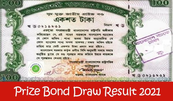 Prize Bond Draw Result 2021