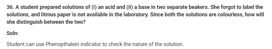 Class 10th Science Ch-2 Ncert Exemplar Question Answers.