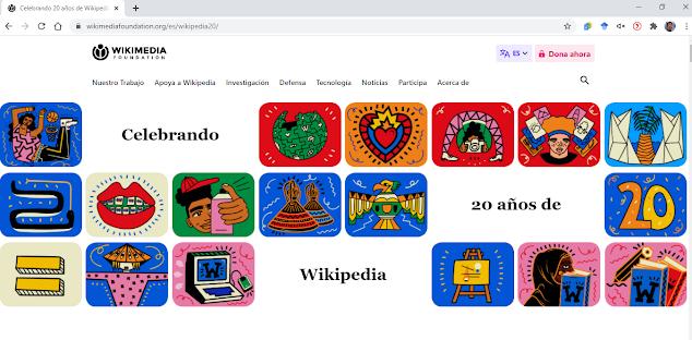 20 años de Wikipedia