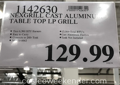 Deal for the Nexgrill Fortress Cast Aluminum Table Top Gas Grill at Costco