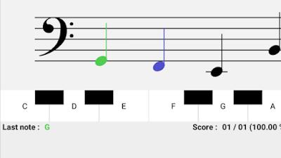 شرح شامل لتطبيق قراءة النوتات الموسيقية NotesDeMusique تنزيل برابط مباشــر