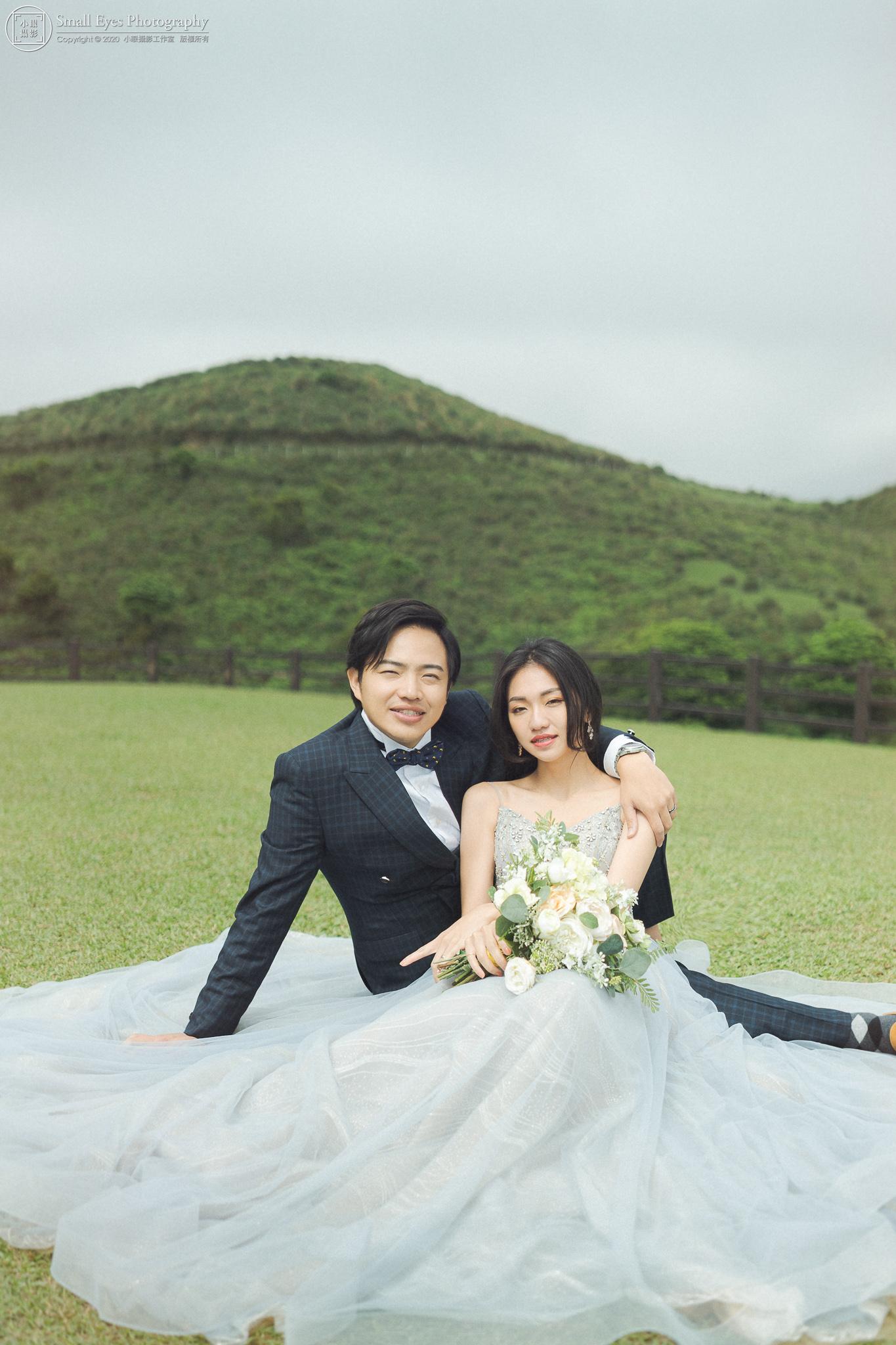 小眼攝影,婚紗攝影,婚攝,吉兒婚紗,新秘瓜瓜,自助婚紗,自主婚紗,台灣,台北,陽明山,草坪,草地