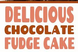 Easy Chocolate Fudge Cake #cake #cakerecipes #cakes #dessert #chocolate #fudge