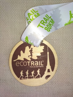 ecotrail Paris 80km finisher medal