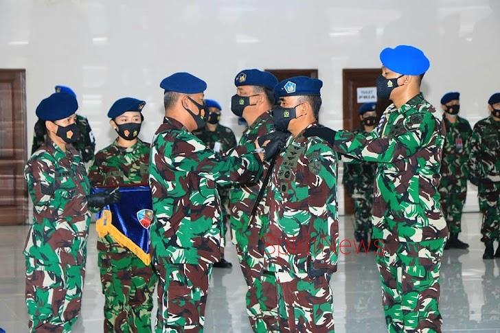 Proresi Serah Terima Jabatan Komandan Lanud Abdurachman Saleh