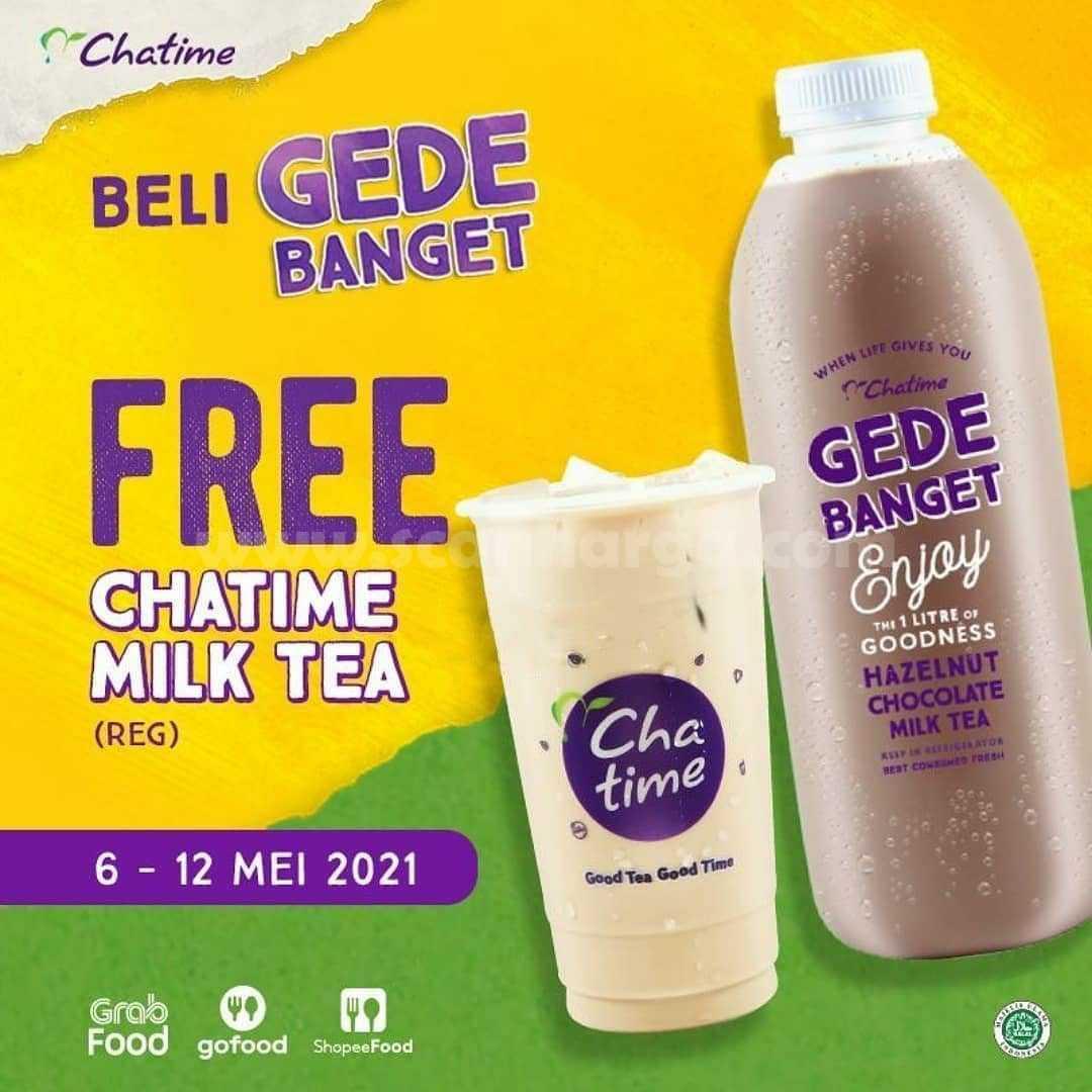 Promo Gede Banget Gratis Chatime Milk Tea (R)