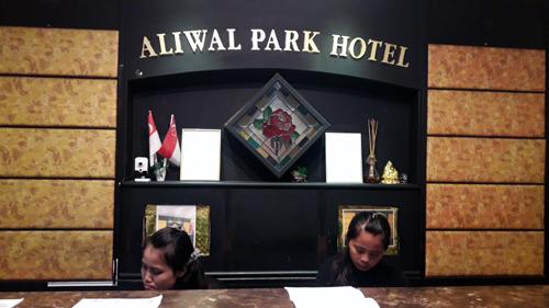 resipsionis di Aliwal Park Hotel