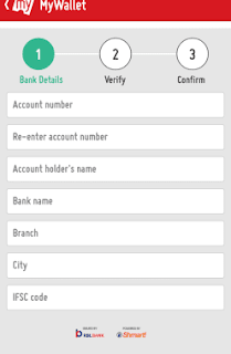 bookmyshow bank details page