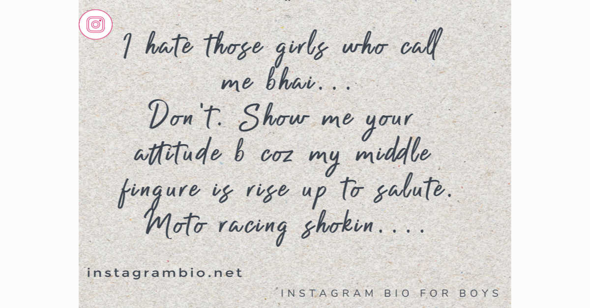 Attitude And Cool Instagram Bio And Facebook Bio For Boys Girls Facebook Bio Status All Types Bio For Fb