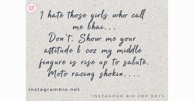 Attitude Instagram Bio For Boys -