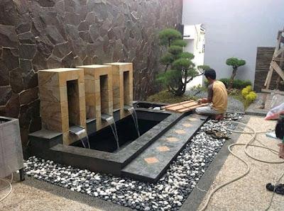Tukang taman surabaya Model Air Mancur Kolam Ikan