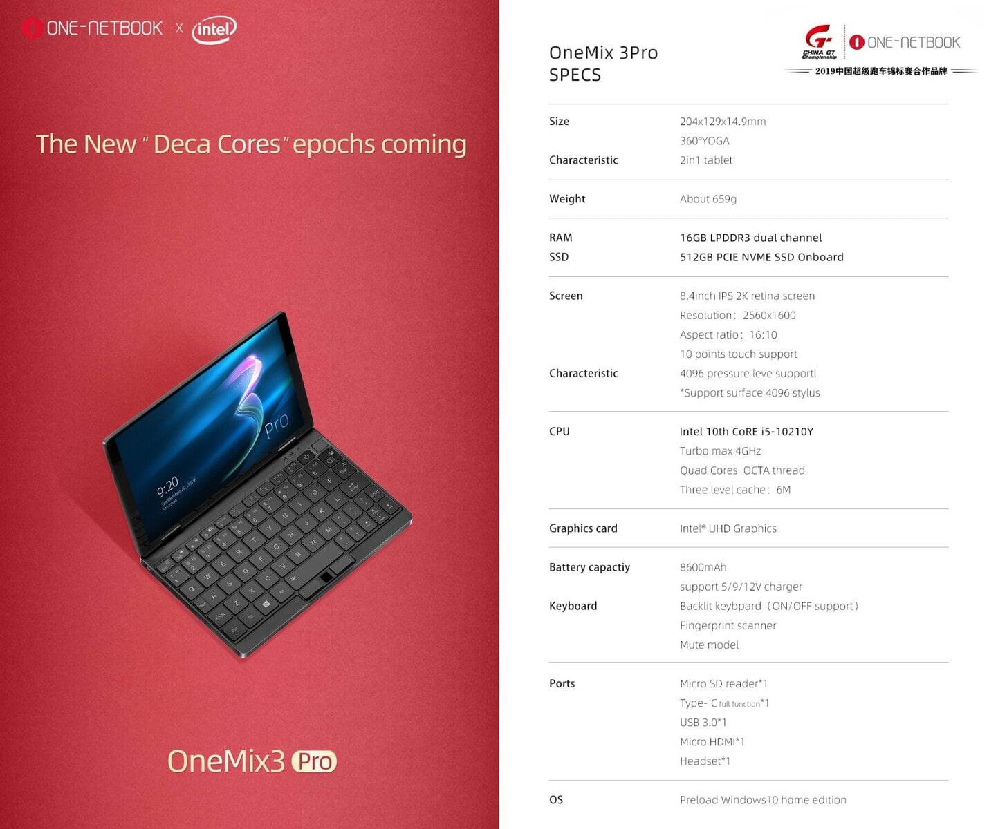 Trên tay OneMix 3 Pro - Laptop mini cấu hình mạnh mẽ gọn nhẹ trong lòng bàn tay