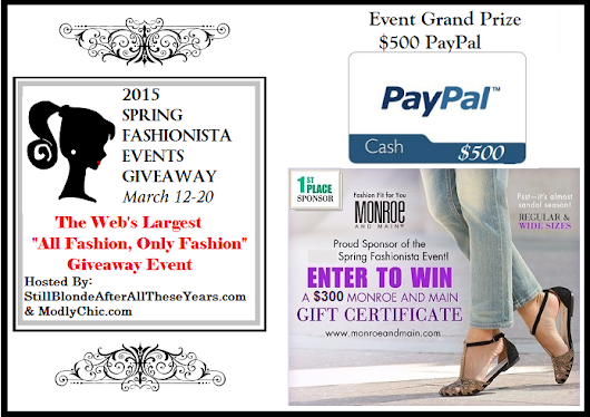 2015 Spring Fashionista Giveaway Event: $125 FIT & Flirty Gift Card