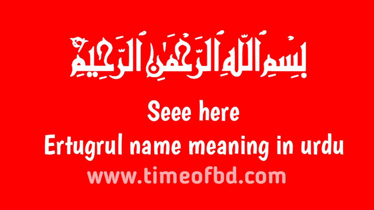 Ertugrul name meaning in urdu, ارٹگرول نام کا مطلب اردو میں ہے