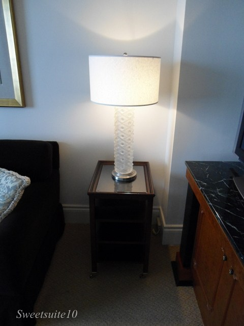 Four Season's Toronto lamp and bedside table