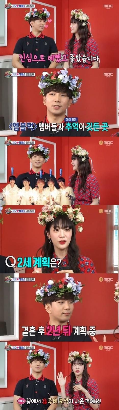 G.O ve Choi Ye Seul evliliklerinin ikinci yılında çocuk sahibi olmayı planlıyorlar