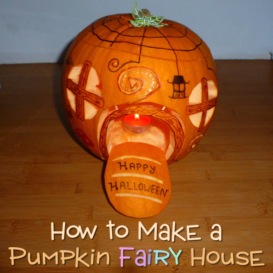 Happy Halloween Fairy House Pumpkin Carving Decoration