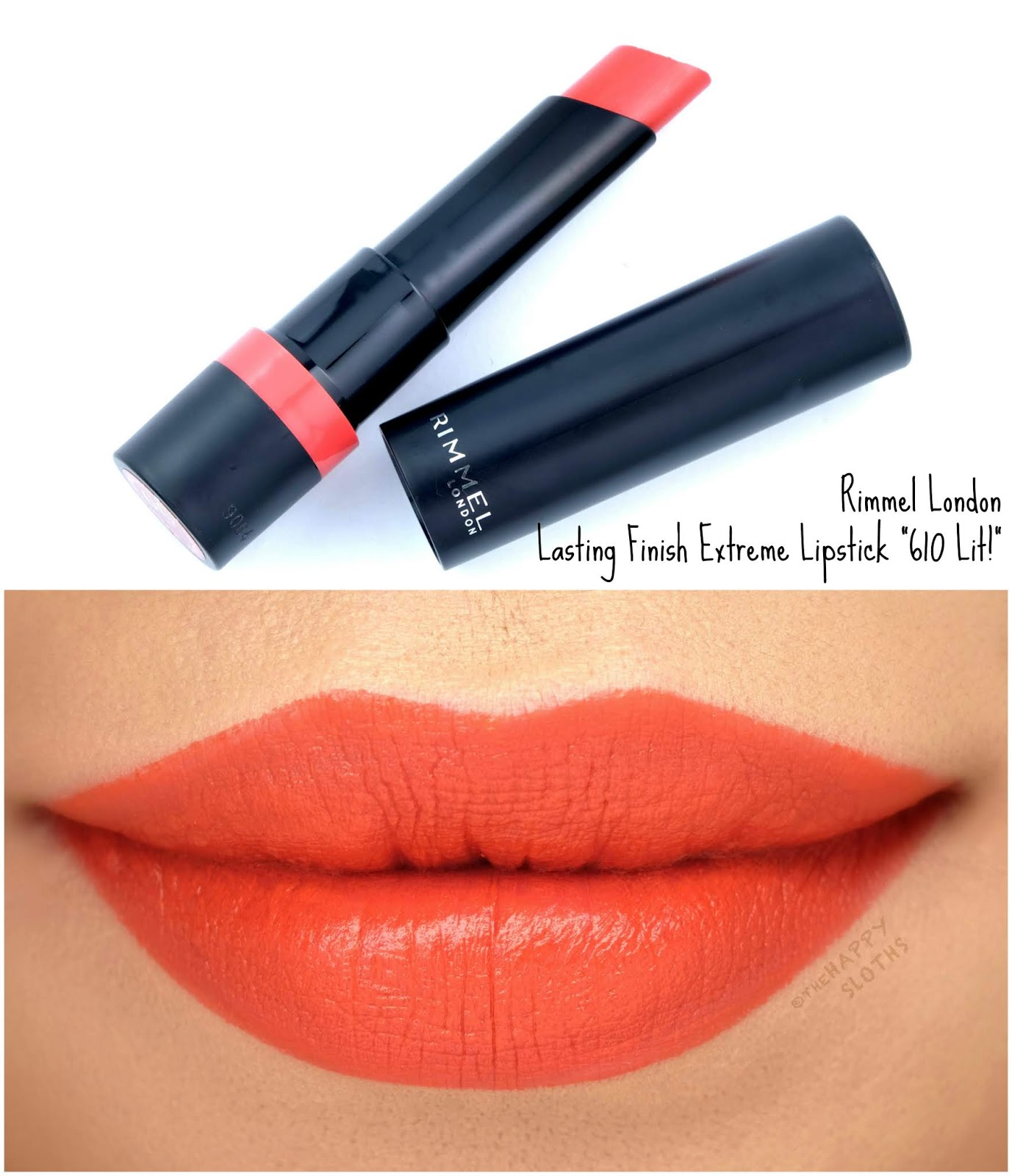 "Rimmel London | Lasting Finish Extreme Lipstick in ""610 Lit!"": Review and Swatches"