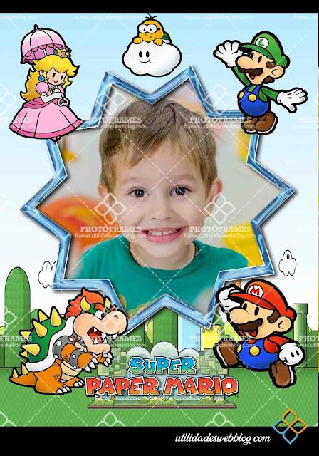 Marco digital para fotos inspirado en el videojuego Paper Mario
