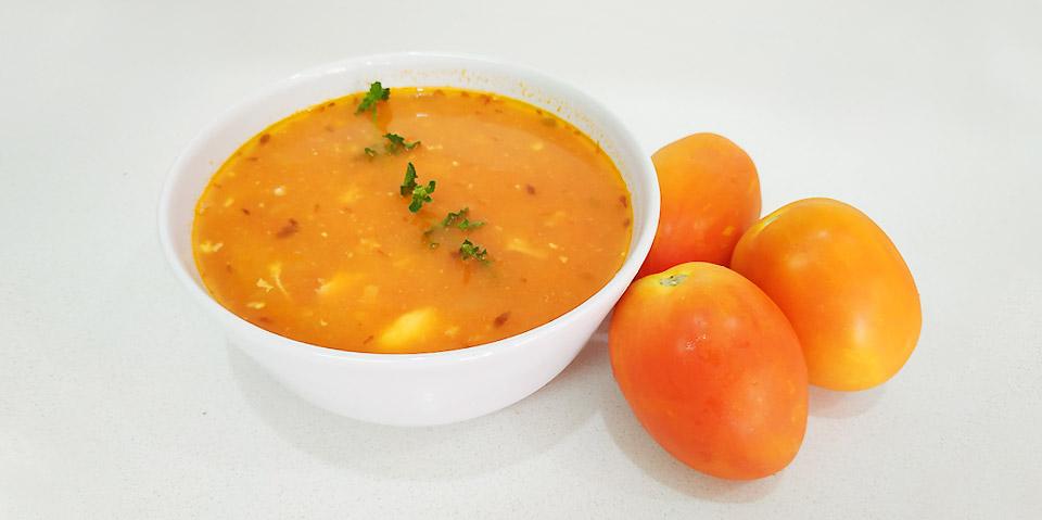 sopa de tomate alentejana bimby
