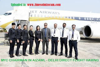 AIZAWL-DELHI DIRECT FLIGHT JET AIRWAYS