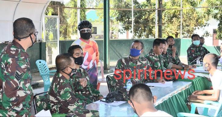 Danrem Brigjen Djashar Memantau Langsung Uji Kesegaran Jasmani Calon Bintara PK TNI AD TA. 2020